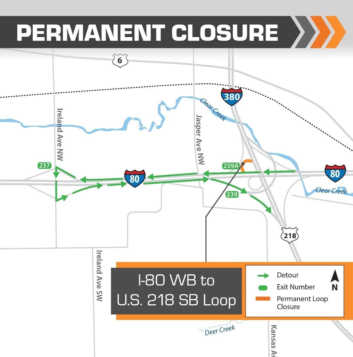 Interstate 80 ramp closure