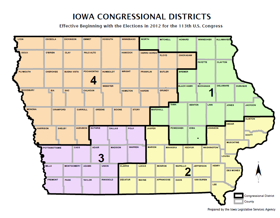Iowa congressional districts current map 2012